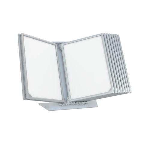 Демосистема настольная перекидная,10 панелей А4, цвет серый 153080-03