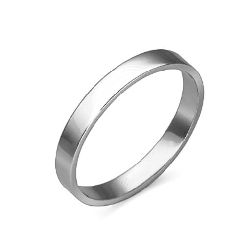 01-4276-00-000-2100-45 - Кольцо обручальное из платины 950 пробы, ширина 3 мм