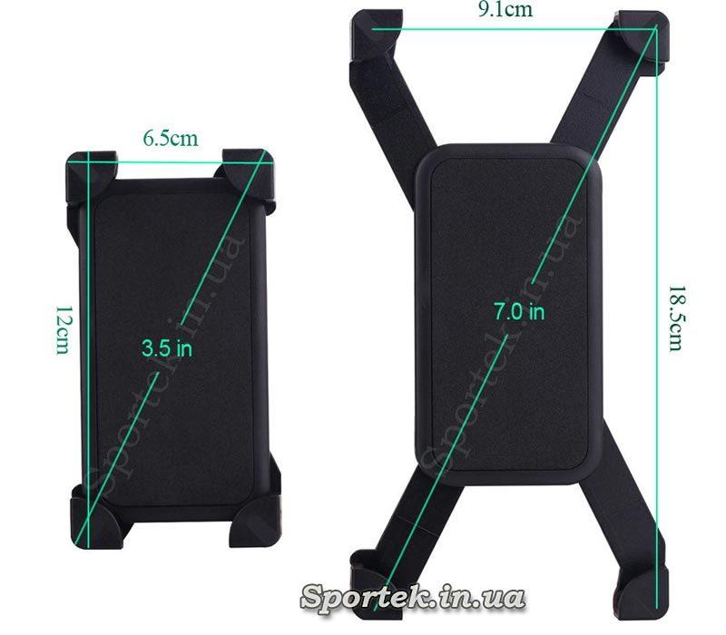 Под какие размеры смартфонов подходит велосипедный держатель CH-01
