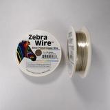 Проволока серебристая с медным сердечником Zebra Wire, 0,4 мм, посеребренная, 27 м