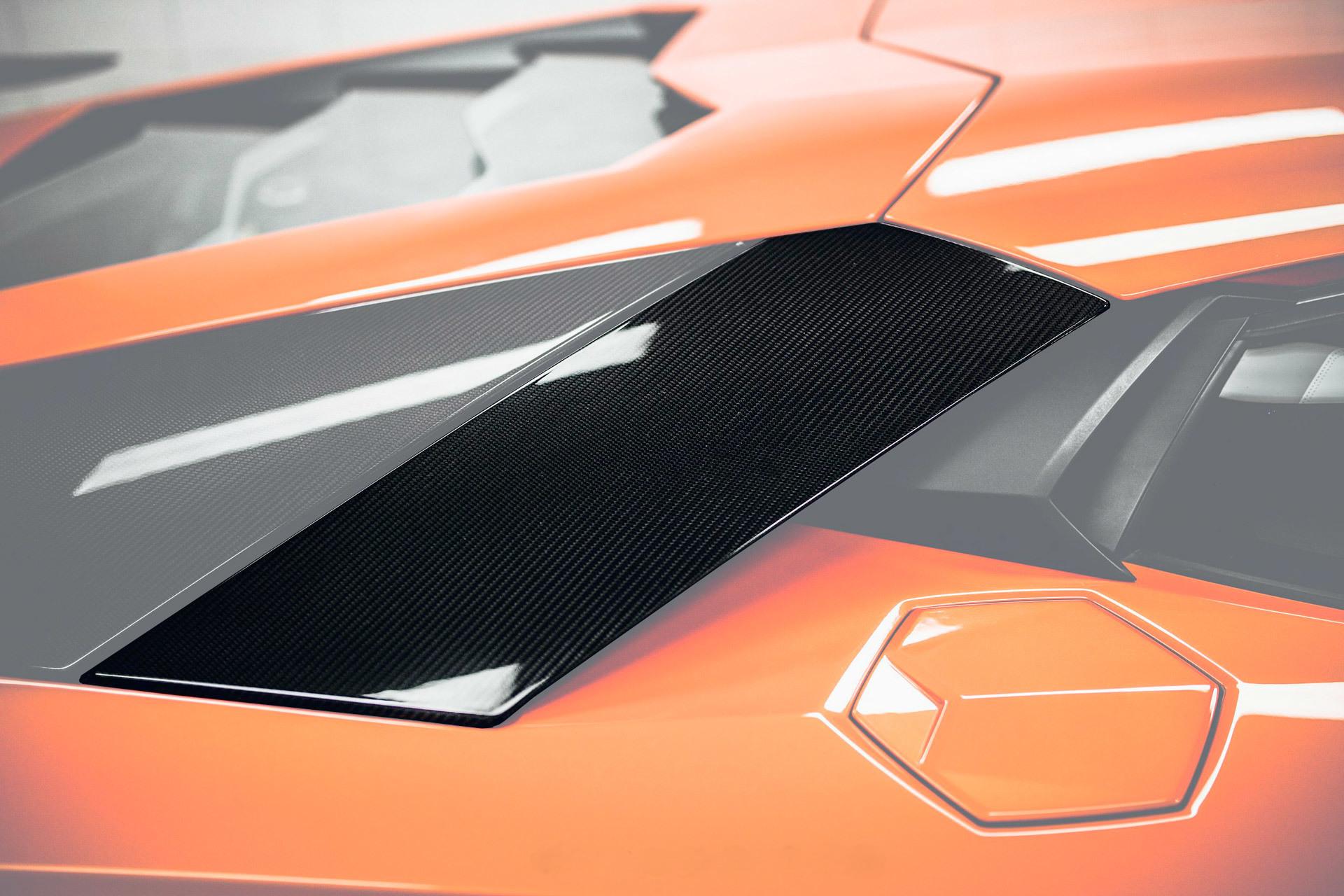 Карбоновые верхние большие воздухозаборники Mansory Style 2 для Lamborghini Aventador