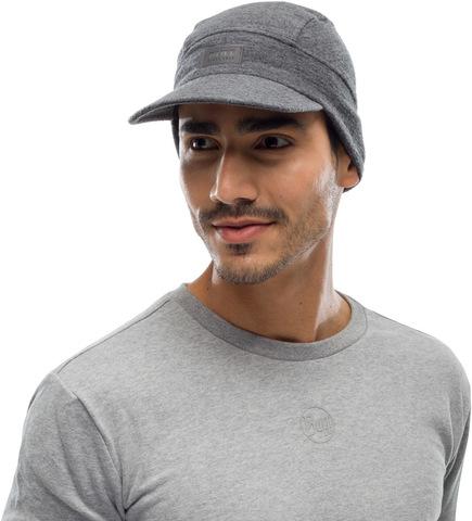 Зимняя шерстяная кепка Buff Wool Fleece Pack Cap Graphite фото 2