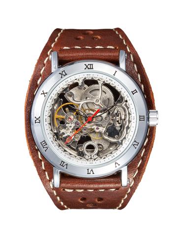 Часы скелетоны мужские механические Winter YOURTIME