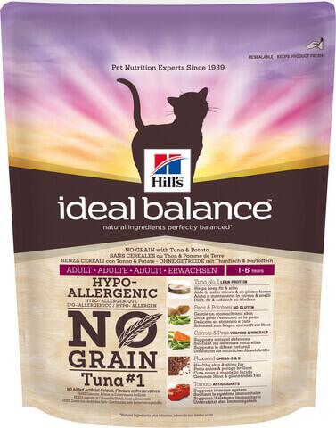 купить Hill's™ Ideal Balance™ Feline Adult with Tuna & Potato сухой беззерновой корм для кошек с тунцом и картошкой  300 грамм
