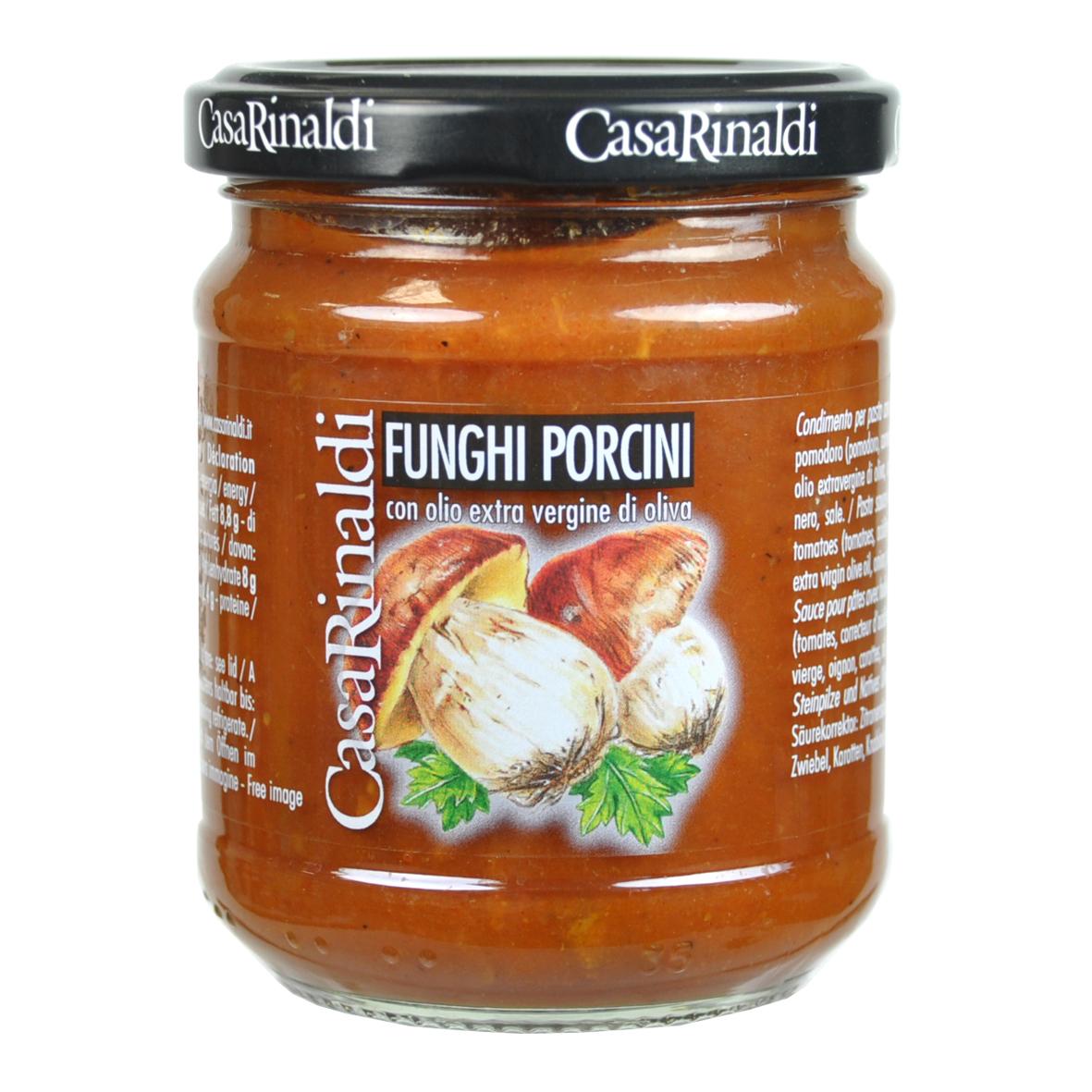 Соус Casa Rinaldi томатный с белыми грибами 190г