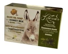 Оливковое мыло с молоком ослиц и листьями оливы Knossos 100 гр