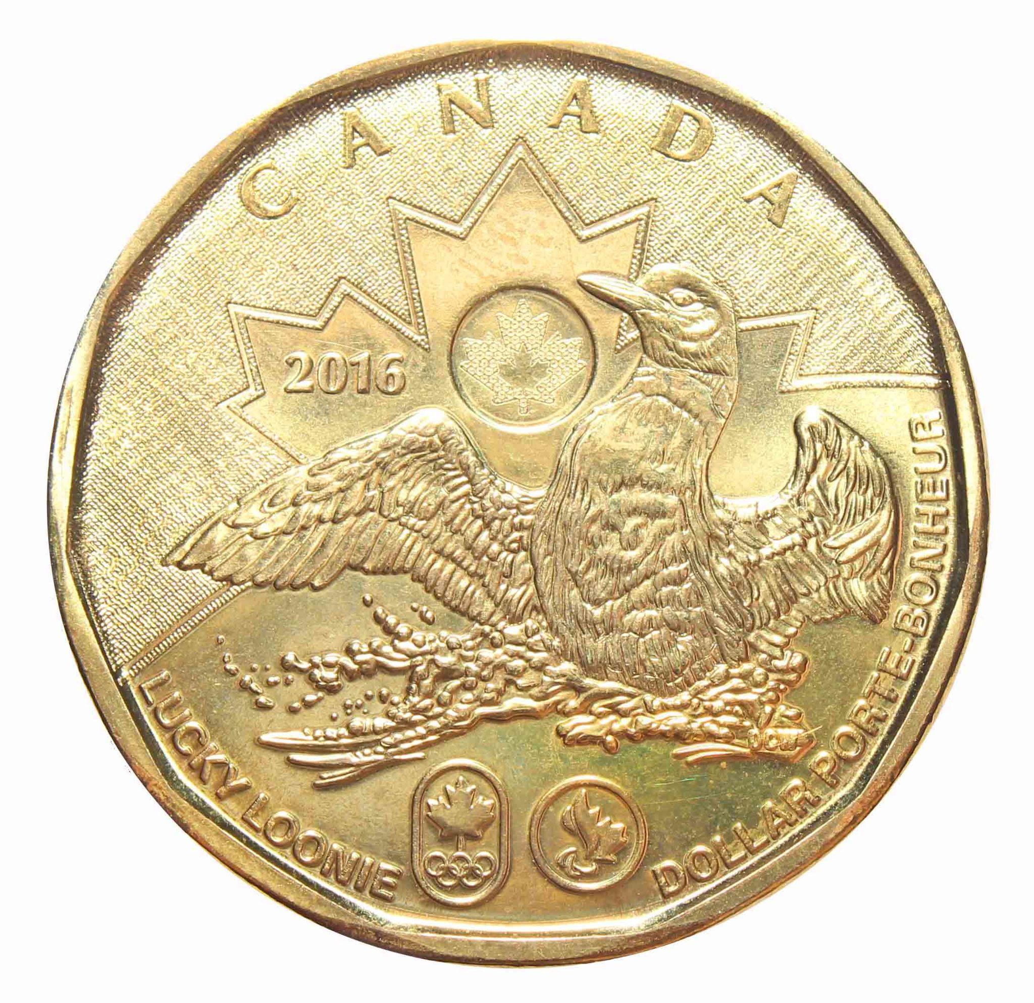 1 доллар Утка, Олимпиада в РИО 2016 год, Канада. UNC