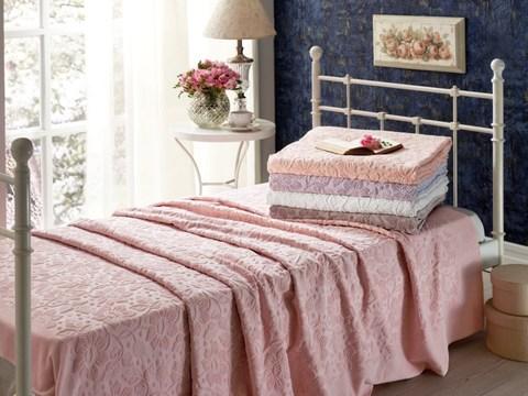 Покрывало махровое пике 1.5-спальное Tivolyo home CAMILLA 160х220 см кремовое