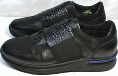 Сникерсы кроссовки мужские Luciano Bellini 1087 All Black
