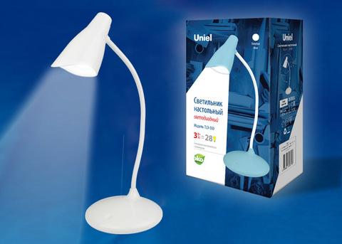 TLD-559 Ivory/LED/280Lm/5000K/Dimmer Светильник настольный, 3W. Сенсорный выключатель. Белый. ТМ Uniel