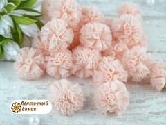 Помпоны из фатина персиковые 23 мм