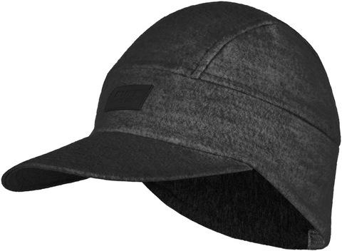 Зимняя шерстяная кепка Buff Wool Fleece Pack Cap Graphite фото 1
