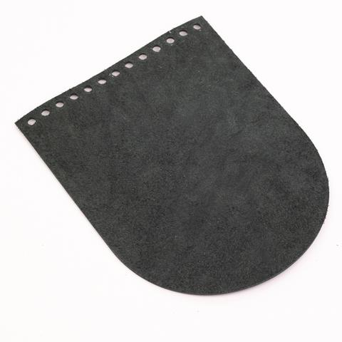 """Клапан для сумочки кожаный """"Пихта"""" 15,5*19,5 см"""