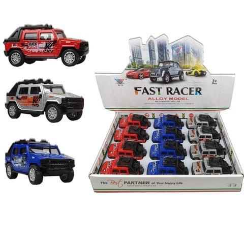 Набор машинок (в ассортименте) FAST RACER DIE CAST METAL Джип № 2, 1кор*24бл*12шт