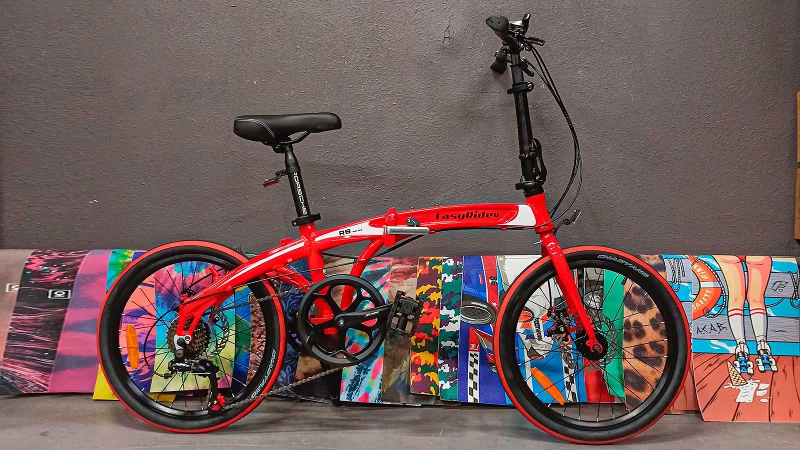 велосипед городской взрослый красный