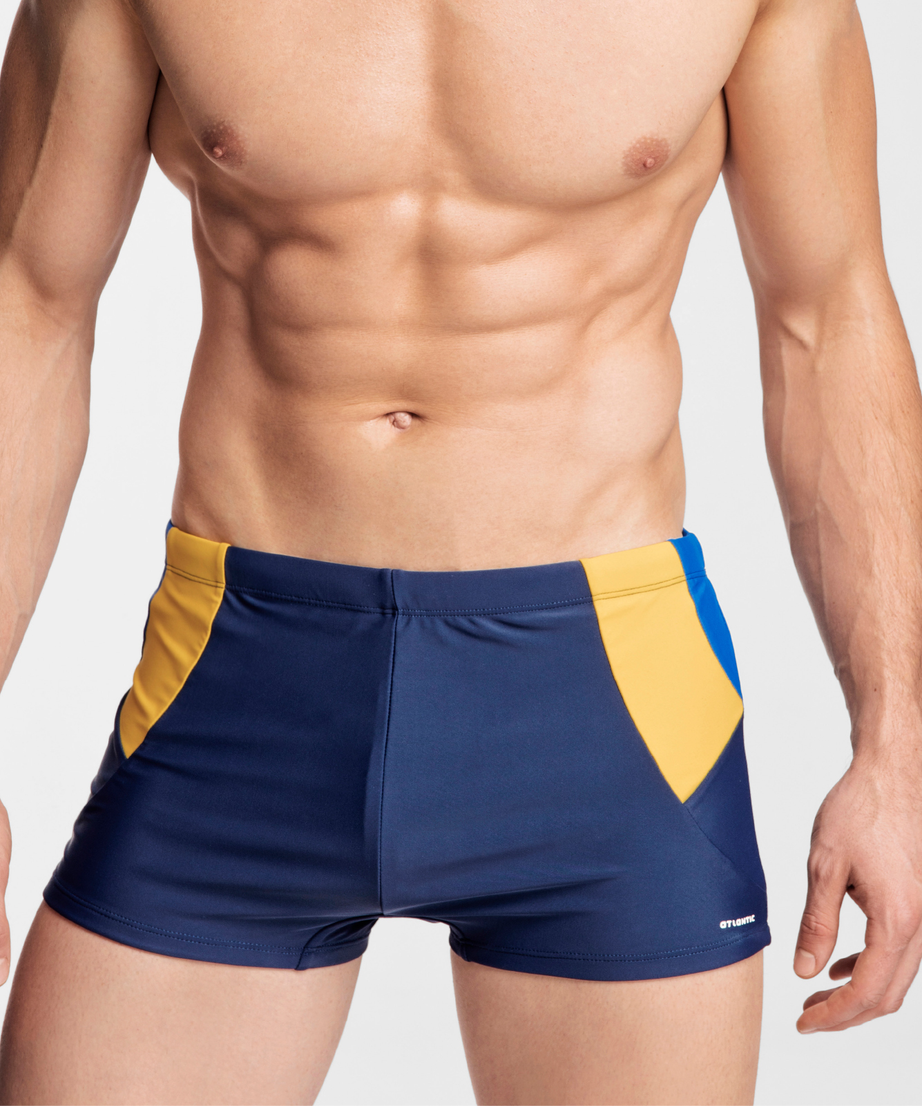 Купальные шорты мужские Atlantic, 1 шт. в уп., полиамид, темно-синие, KMS-312