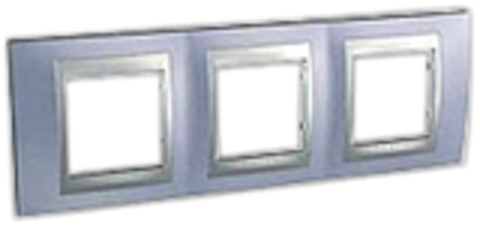 Рамка на 3 поста. Цвет Берилл-алюминий. Schneider electric Unica Top. MGU66.006.098