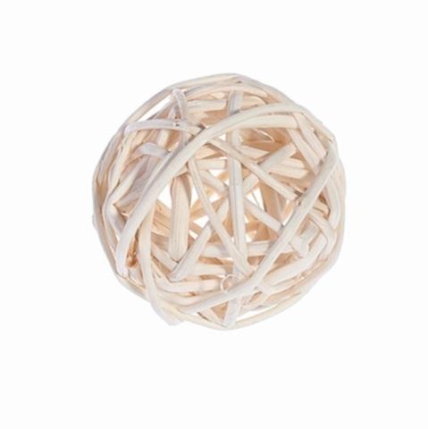 Плетеные шары из ротанга (набор:6 шт., d8 см, цвет: белый)