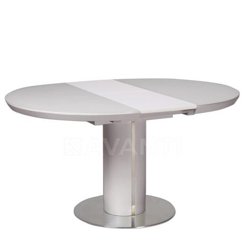 Стол обеденный раскладной SLIM (110) латте сатинированное стекло