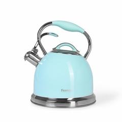 5958 FISSMAN Чайник со свистком для кипячения воды FELICITY 2,6л, цвет АКВАМАРИН (нерж.сталь)