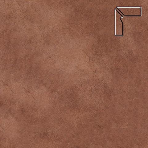 Interbau - Nature Art, Cognac braun/Шоколадный, цвет 114 - Клинкерный плинтус ступени левый
