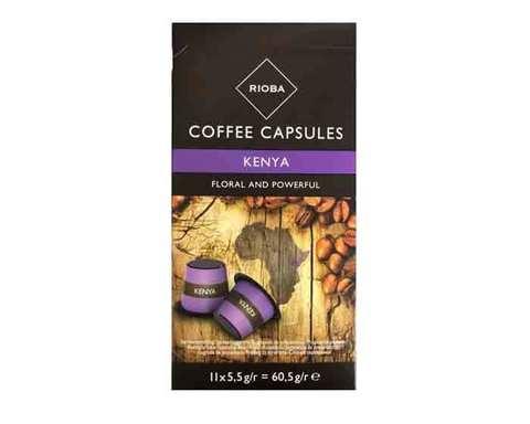 Кофе в капсулах Rioba Kenya, 11 капсул для кофемашин Nespresso