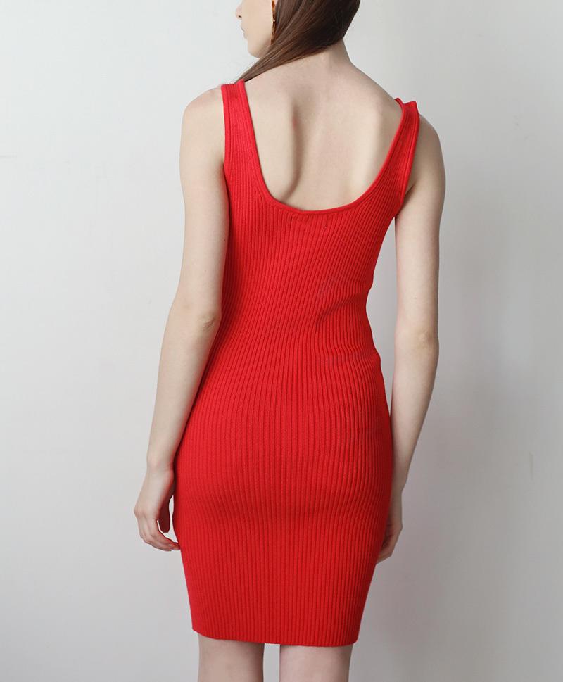 Платье-майка короткое коралловое