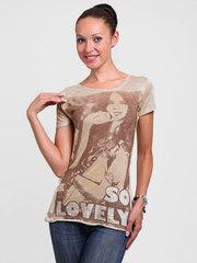 1813 футболка женская, серая
