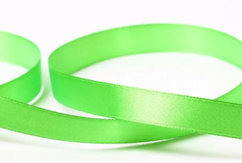 Лента атласная 12мм (23м), №52 цвет светло-зеленый