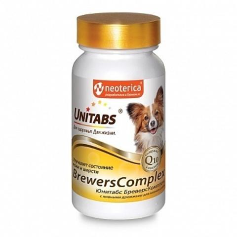 ЮНИТАБС БреверсКомплекс Q10 витамины с пивными дрожжами для мелких собак 100 таб.