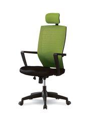 Компьютерный стул черно-зеленый Smart 1701K