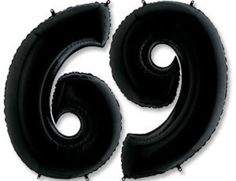 Цифра, 6, Черный (Black), 40''/102 см, 1 шт.