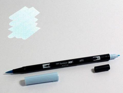 Маркер-кисть Tombow ABT Dual Brush Pen-491, голубой ледник
