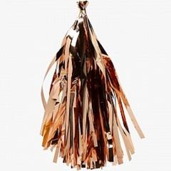 Гирлянда Тассел, Розовое золото, фольга, 3 м, 12 листов