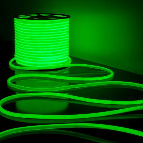 Светодиодный гибкий неон LS003 220V 9.6W 144Led 2835 IP67 круглый зеленый 6500К