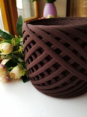 Шоколад  трикотажная пряжа