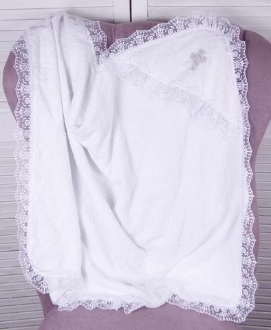 Крестильная крыжма махровая  Крещение (белая)