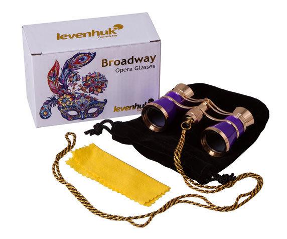 Театральный бинокль с цепочкой Levenhuk Broadway 325C Amethyst - фото 2 - комплект поставки