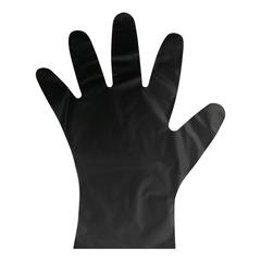 Перчатки одноразовые ТПЭ AVIORA цв. черный (402-884) 100 шт/уп р.L