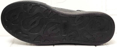 Черные кожаные кроссовки с черной подошвой EVA collection 0721 All Black.