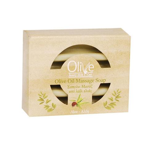 Массажное оливковое мыло с алоэ Olive Beauty Medi Care 100 гр