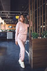 Спортивный костюм розовый хлопковый магазин