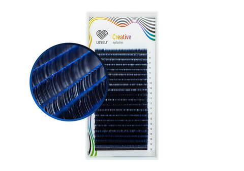 Ресницы двухтоновые синие Lovely - 20 линий - MIX