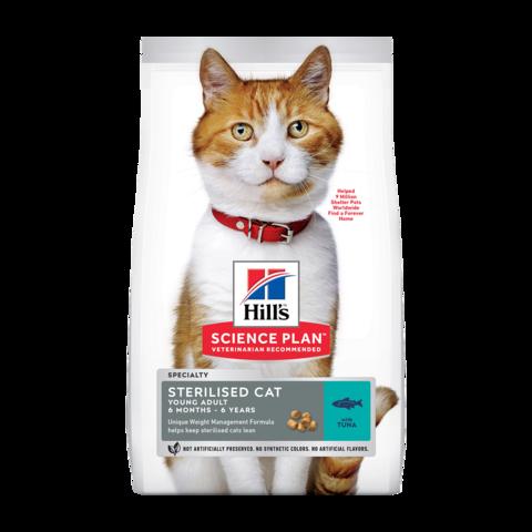 Hill's Science Plan Young Sterilised Tuna Сухой корм для молодых стерилизованных кошек и кастрированных котов с Тунцом