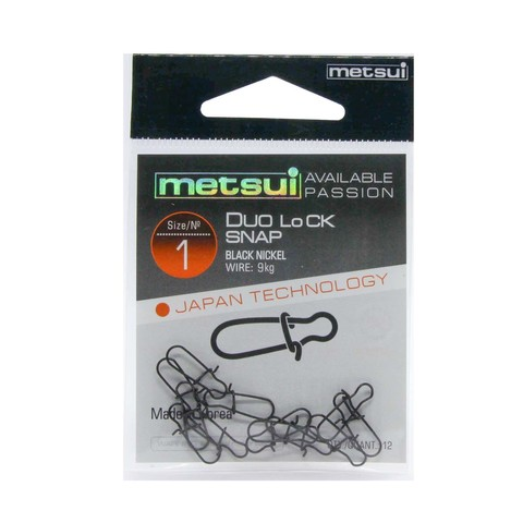 Застежки Metsui Duo Lock Snap black № 1