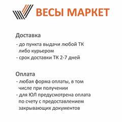 Весы платформенные врезные Невские ВСП4(В)-2000-125125, 2000кг, 500/1000гр, 1250х1250, RS232, стойка, с поверкой, выносной дисплей