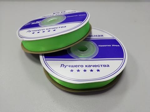 Лента атласная Светло-Зеленая 12 мм, 27м