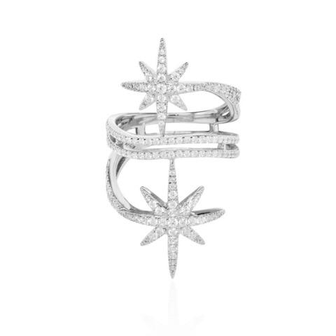 Кольцо METEORITES из серебра с цирконами в стиле APM MONACO