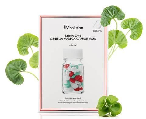 Успокаивающая целлюлозная маска с центеллой азиатской JMsolution Derma Care Centella Madeca Capsule Mask