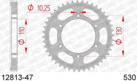 12813-47 звезда задняя AFAM (JTR479.47) для Yamaha FZ Fazer